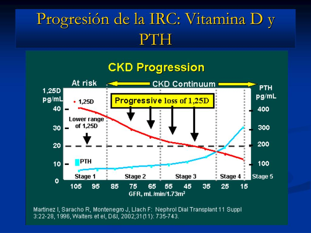Progresión de la IRC: Vitamina D y PTH