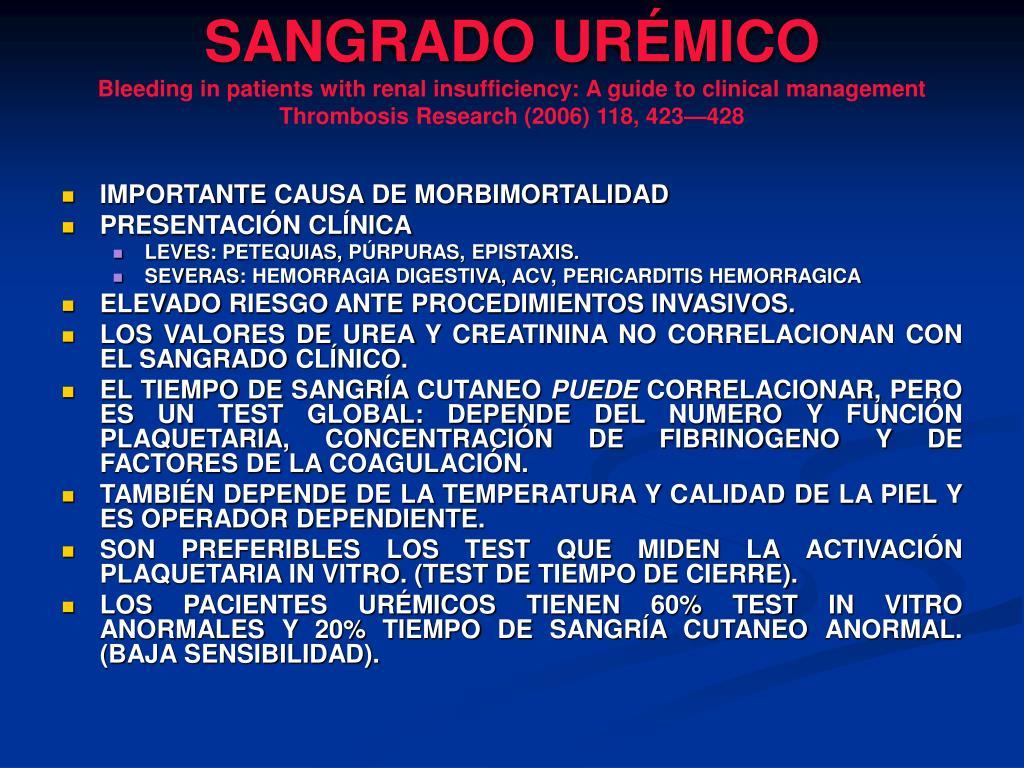 SANGRADO URÉMICO