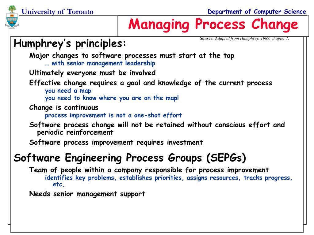 Humphrey's principles: