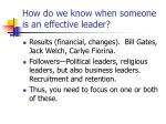 how do we know when someone is an effective leader