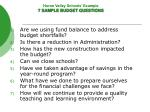 huron valley schools example 7 sample budget questions