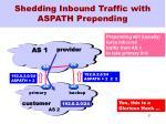 shedding inbound traffic with aspath prepending