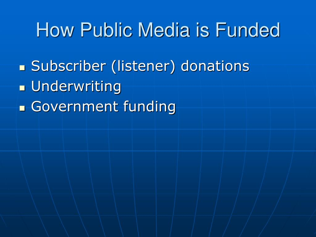 How Public Media is Funded