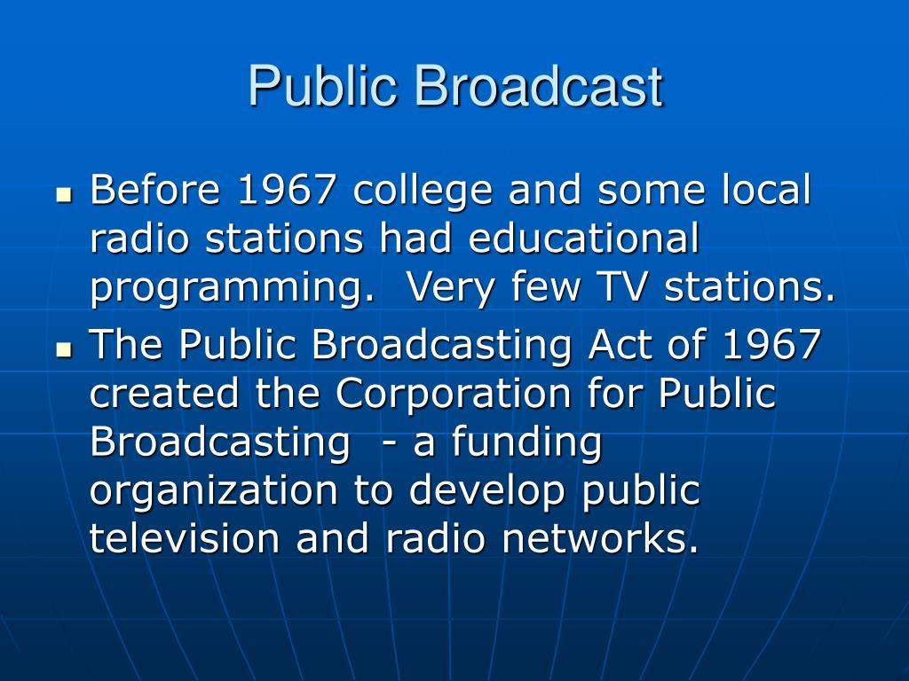 Public Broadcast