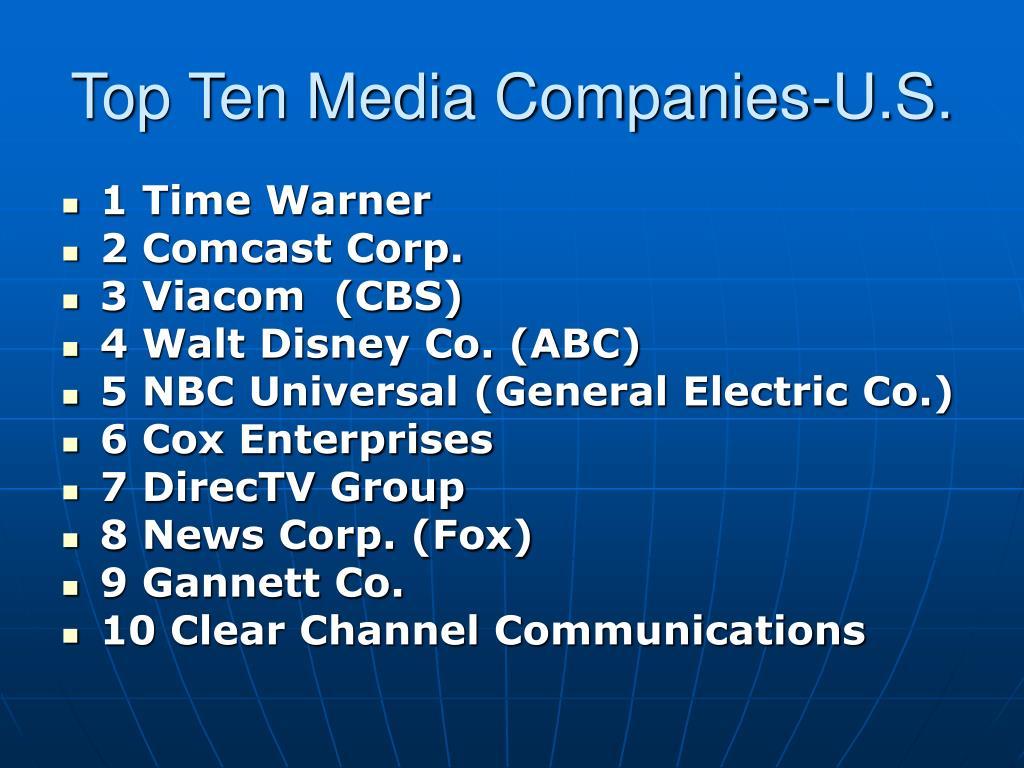Top Ten Media Companies-U.S.