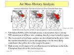 air mass history analysis