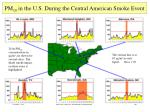 pm 10 in the u s during the central american smoke event