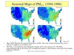 seasonal maps of pm 2 5 1994 1996