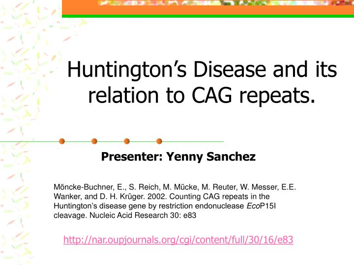 Huntington's Disease Overview, Incidence and Prevalence of HD