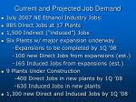 current and projected job demand