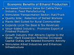 economic benefits of ethanol production