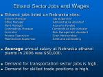 ethanol sector jobs and wages
