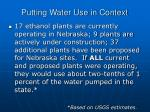 putting water use in context22