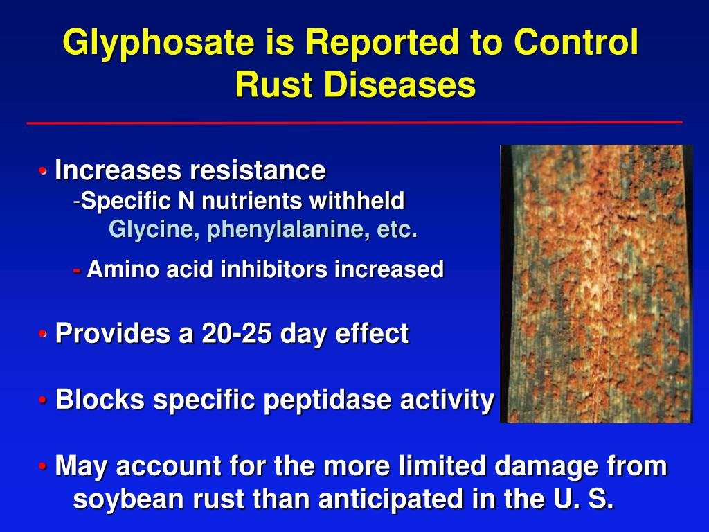Glyphosate is Reported to Control