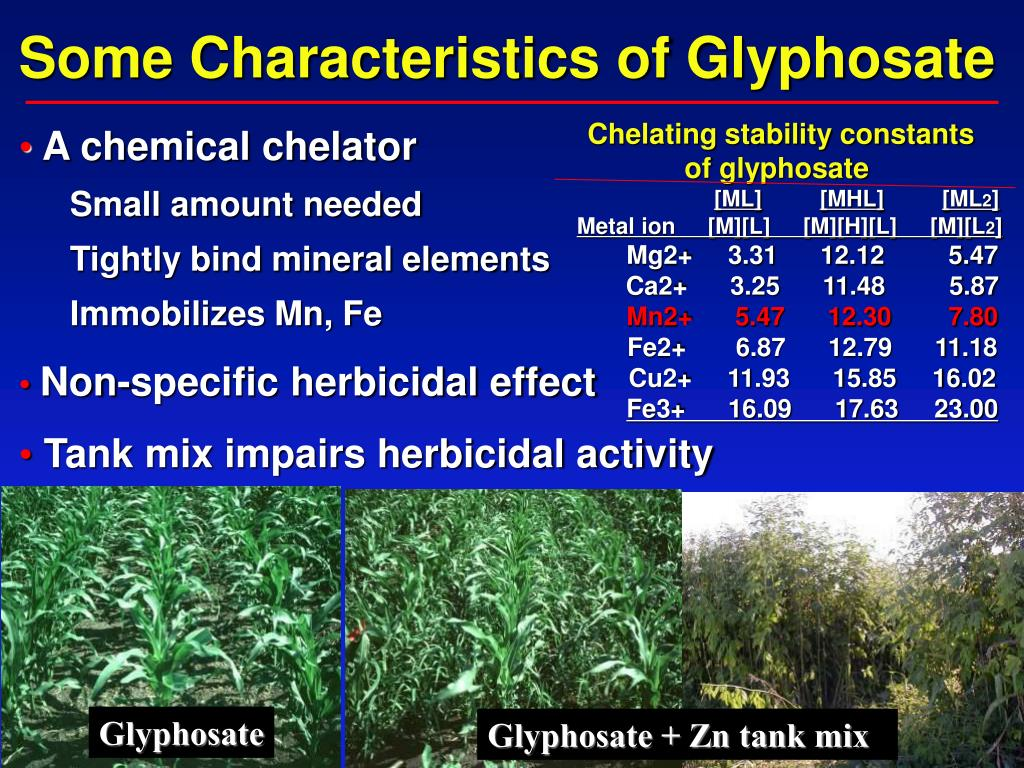 Some Characteristics of Glyphosate