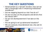 the key questions