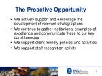 the proactive opportunity