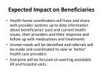 expected impact on beneficiaries47