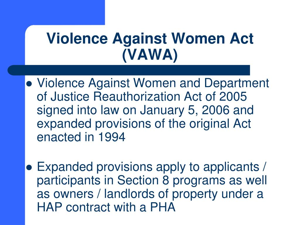 an analysis of the violence against women act This report provides a state-by-state analysis of lihtc vawa  for more  information on vawa's housing protections, see nhlp's domestic.