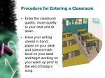 procedure for entering a classroom