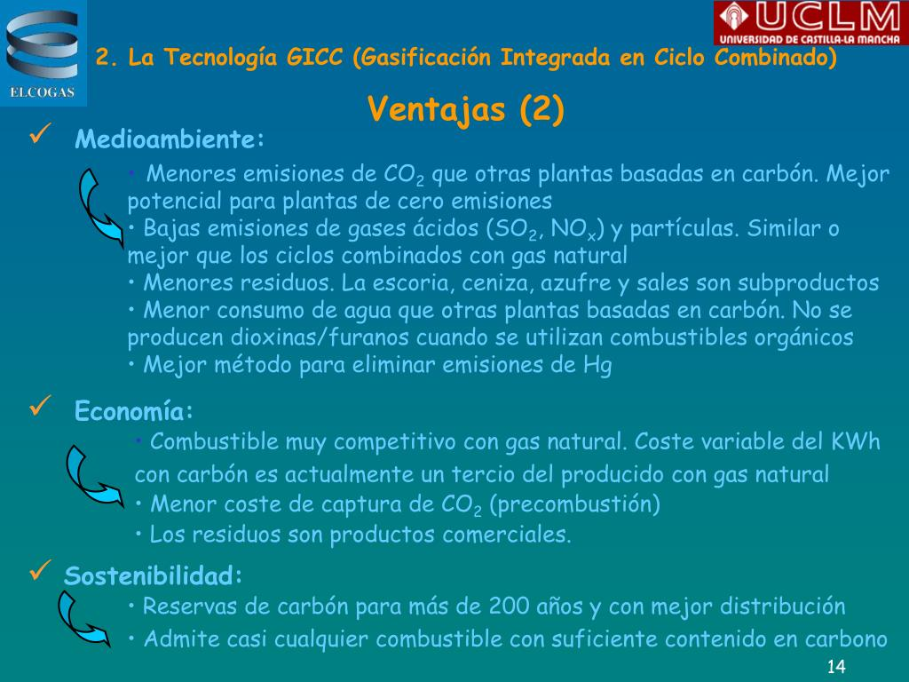2. La Tecnología GICC (Gasificación Integrada en Ciclo Combinado)