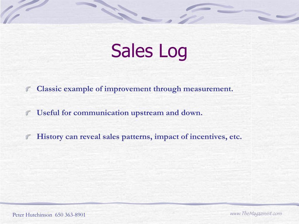 Sales Log