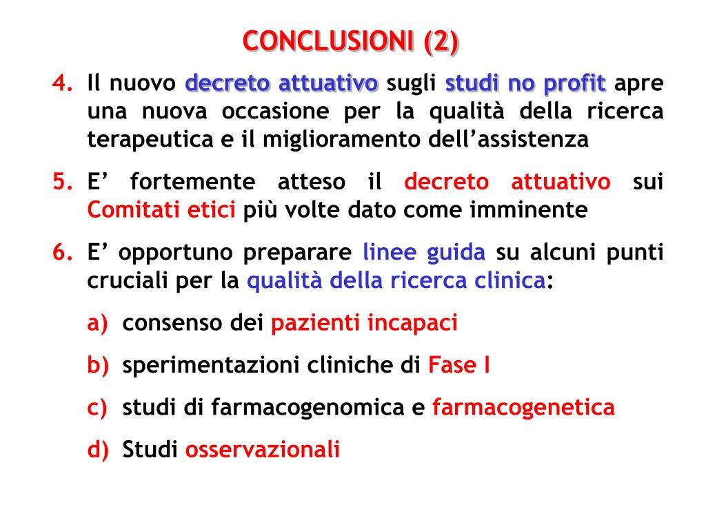 CONCLUSIONI (2)