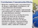 correlaciones concentraci n efecto