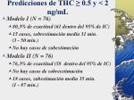 predicciones de thc 0 5 y 2 ng ml
