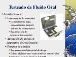 testeado de fluido oral41