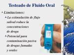 testeado de fluido oral42