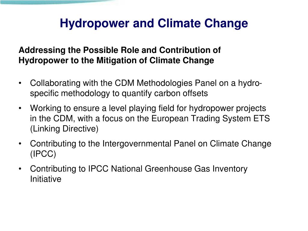 Hydropower and Climate Change