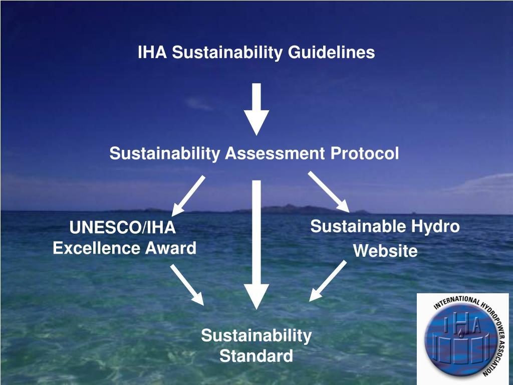 IHA Sustainability Guidelines