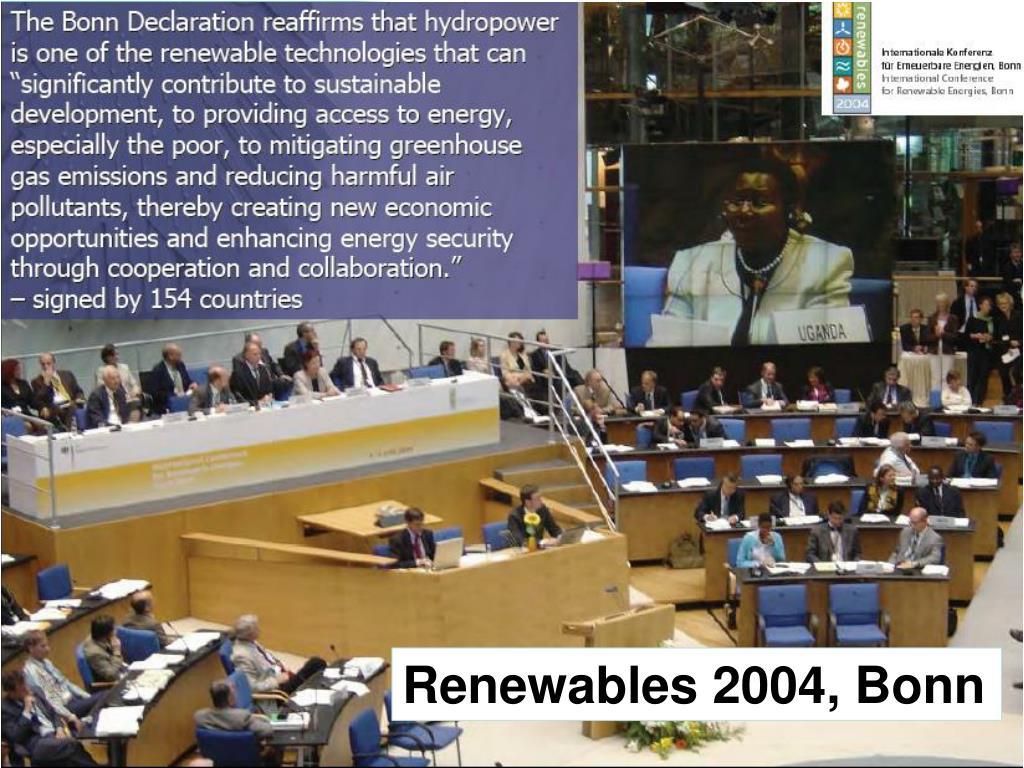 Renewables 2004, Bonn