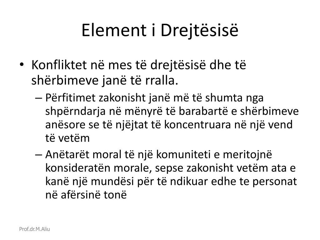 Element i Drejtësisë