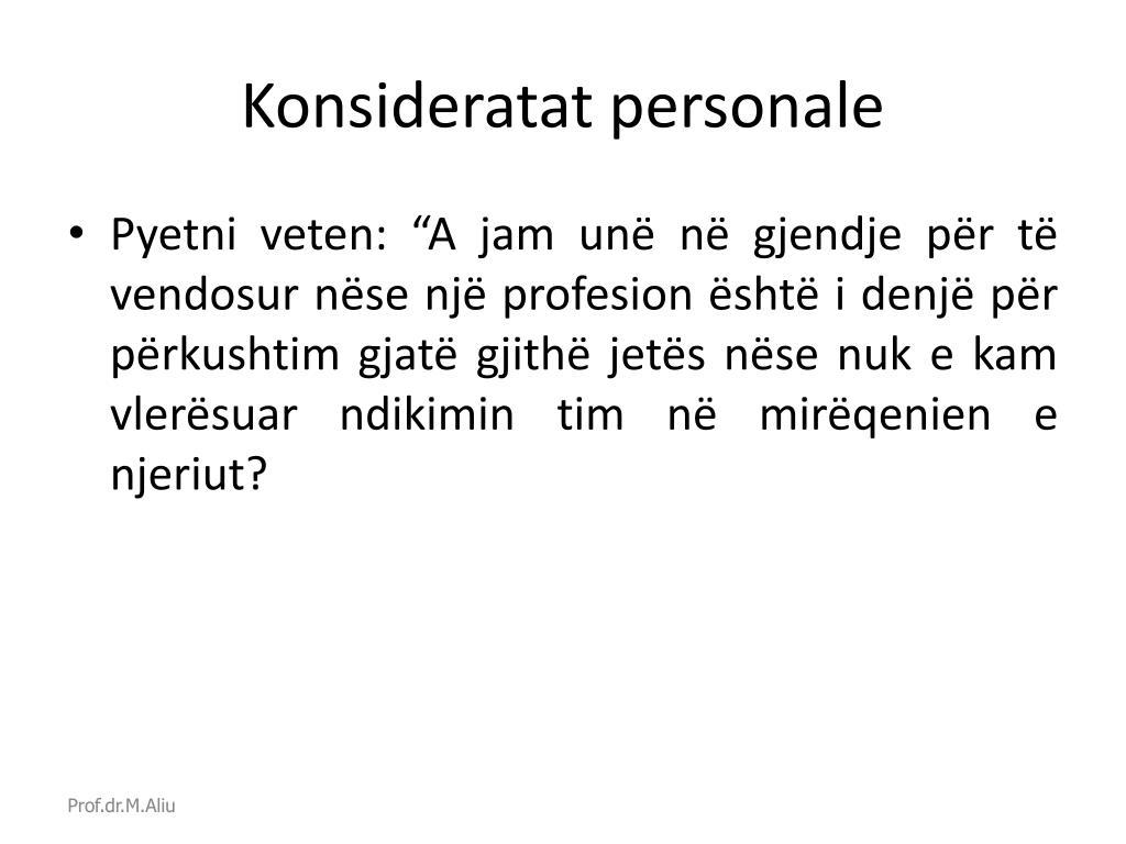 Konsideratat personale