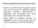 premisa parakushtet themelore etike
