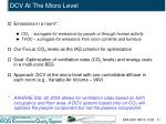 dcv at the micro level