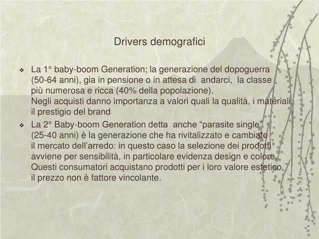 Drivers demografici
