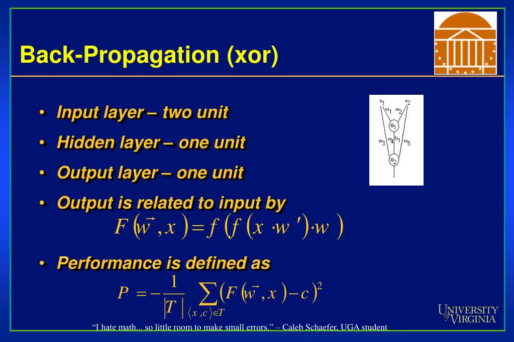 Back-Propagation (xor)