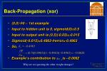 back propagation xor30