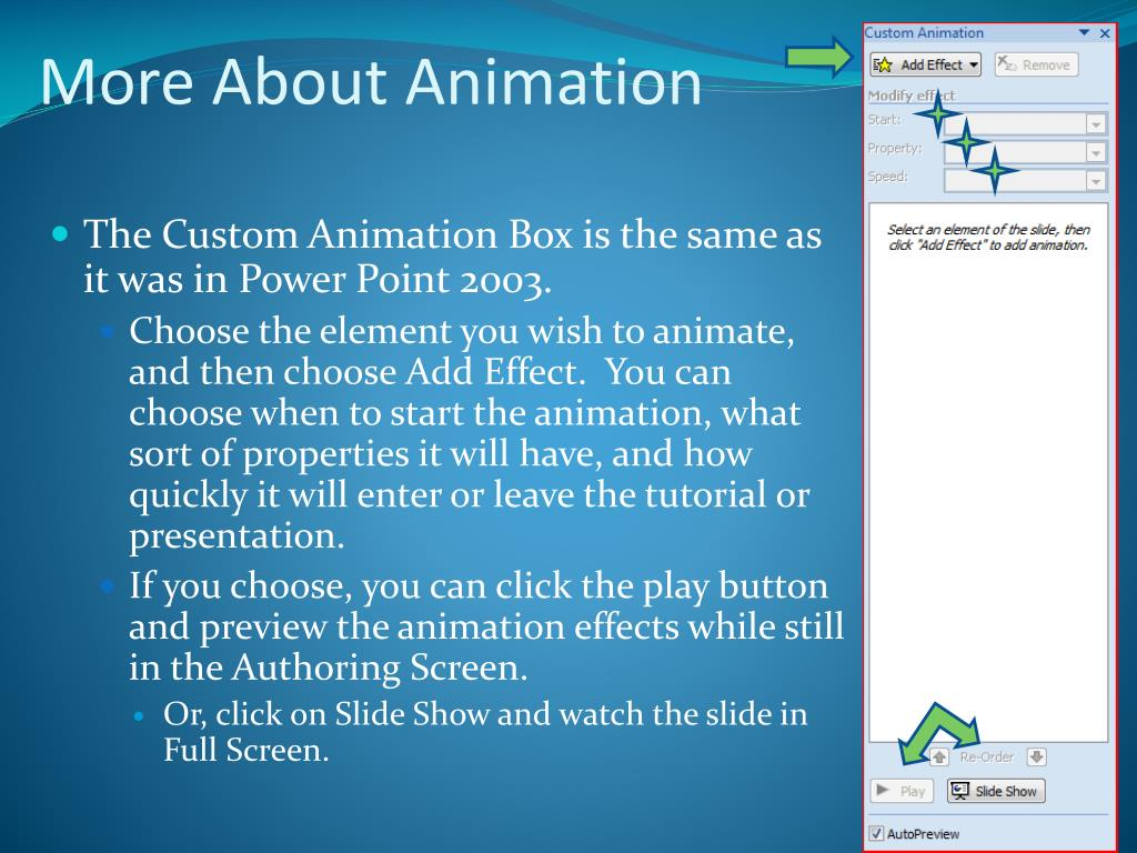 More About Animation
