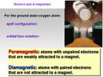 electron spin magnetism