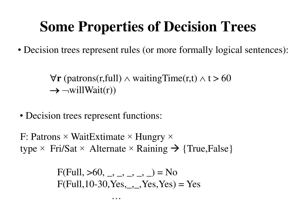 Some Properties of Decision Trees