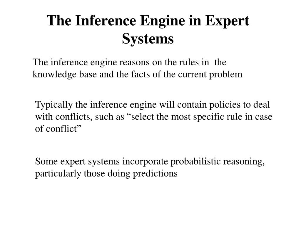 The Inference Engine in Expert Systems