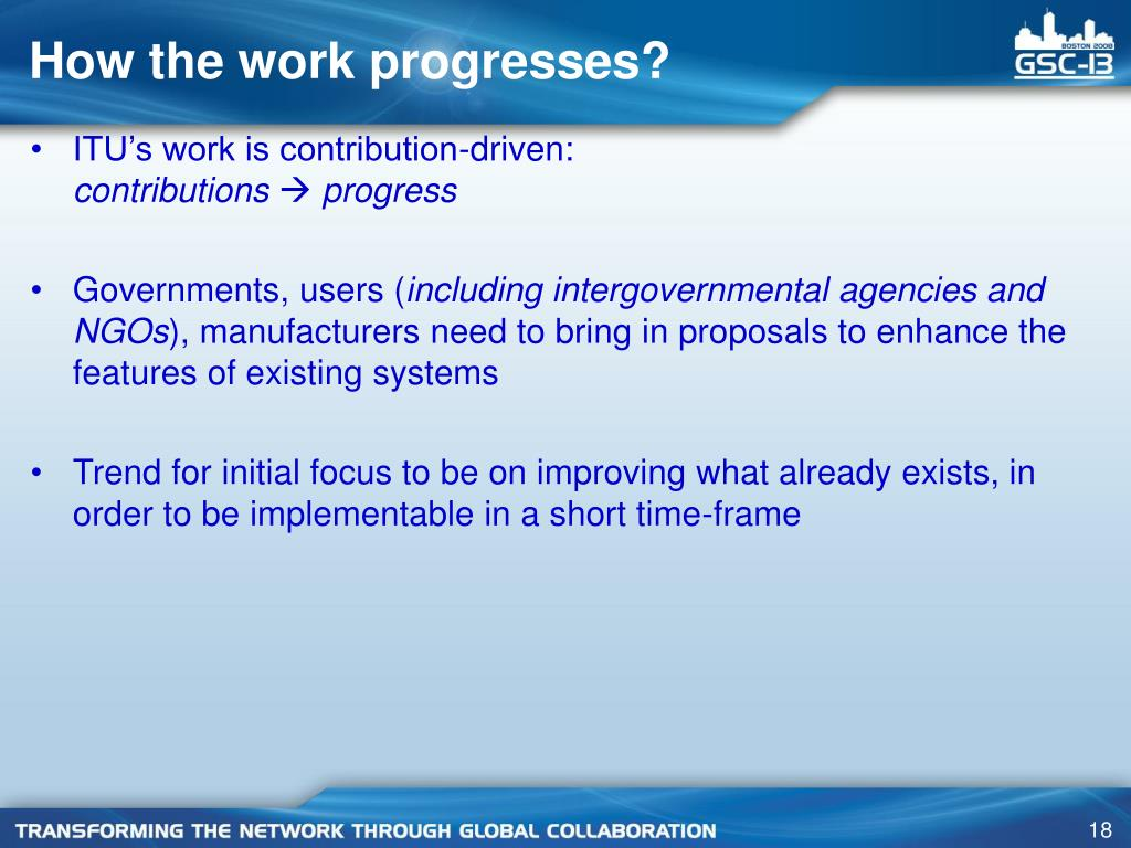 How the work progresses?