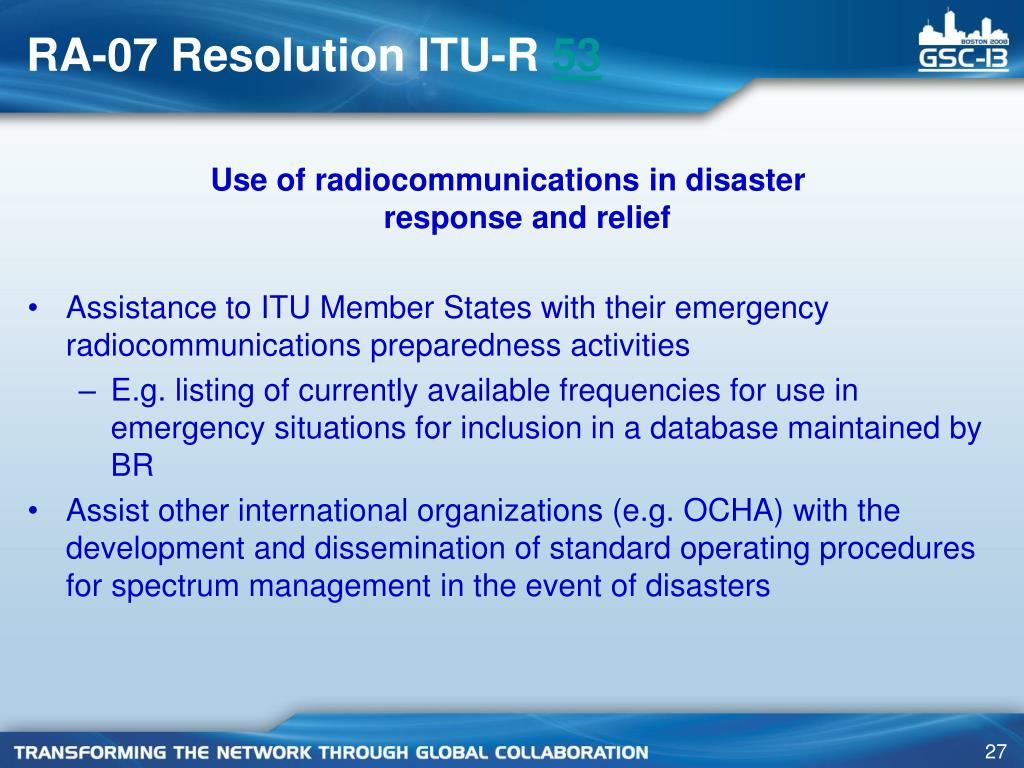 RA-07 Resolution ITU-R
