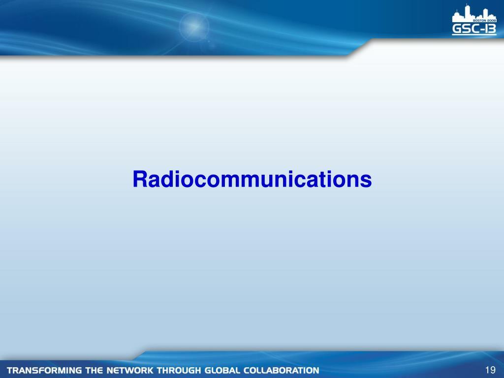 Radiocommunications