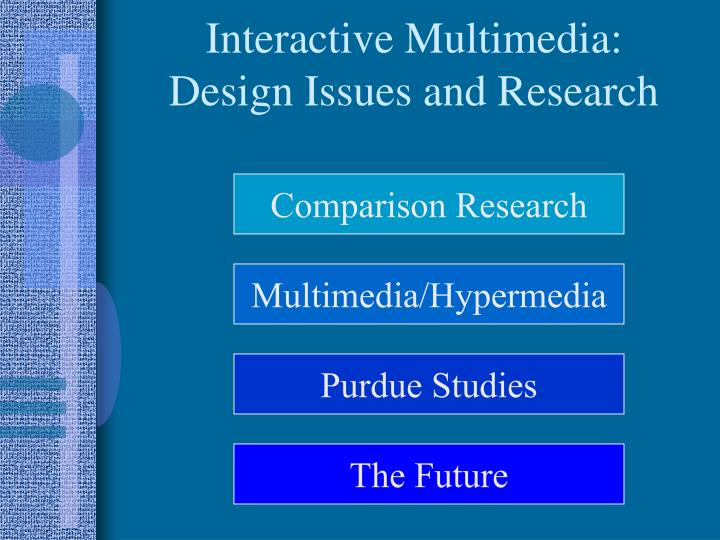 Interactive multimedia design issues and research2