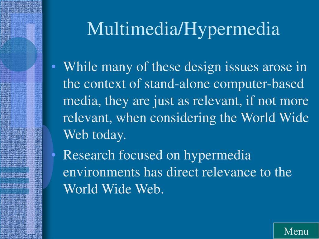 Multimedia/Hypermedia